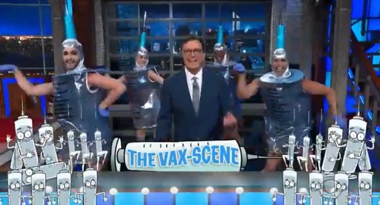 CRINGE: Stephen Colbert Reduced to Dancing with Syringe Drag Queens Like a Fool For Big Pharma in Effort to Convince People to Get Vaxxed (VIDEO)