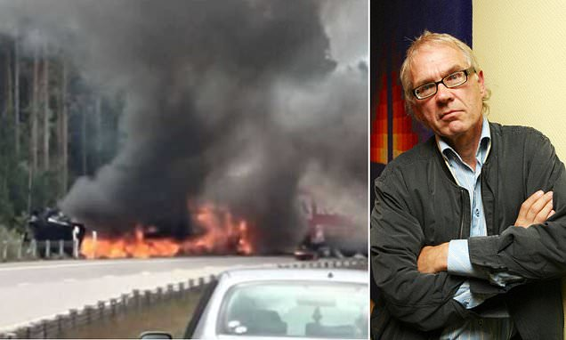 Swedish artist who survived two murder attempts after drawing the Prophet Mohammed is killed in mystery car crash along with his two police protection officers