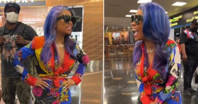 Model Blac Chyna Explodes in Miami Airport: 'Get the F***ing Vaccine, and Stop Being Stupid, Hoe'