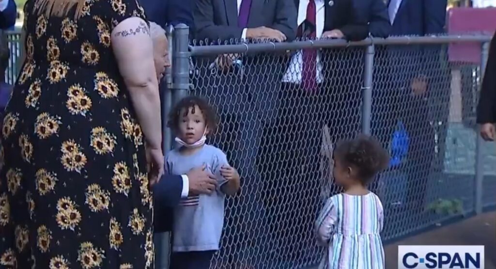 VIDEO: Biden Appears To Touch Child's Nipple While Touring Daycare Center