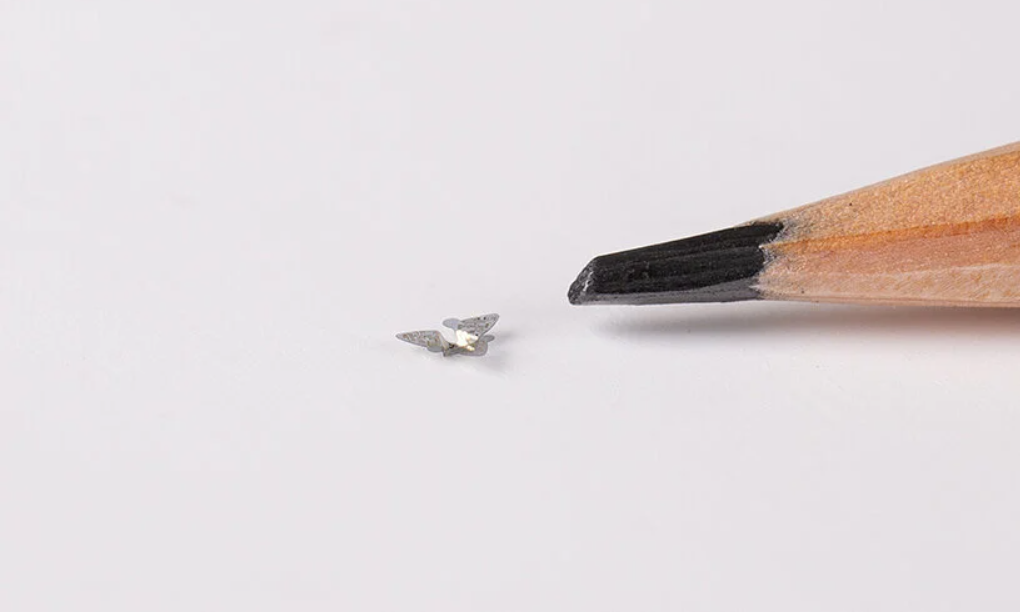 the microflier, a flying microchip that could track pollution and disease