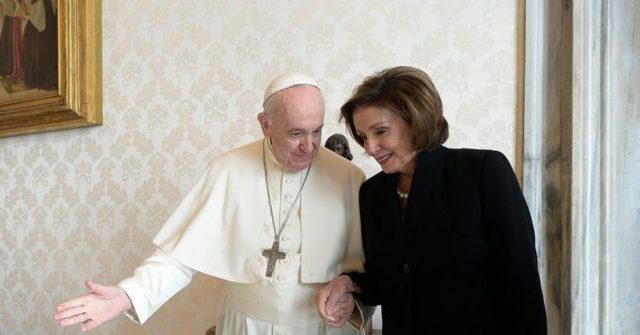 Pope Francis Welcomes Nancy Pelosi in the Vatican
