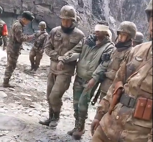 China Releases Humiliating Footage Of Blindfolded Indian Troops Captured On Disputed Border
