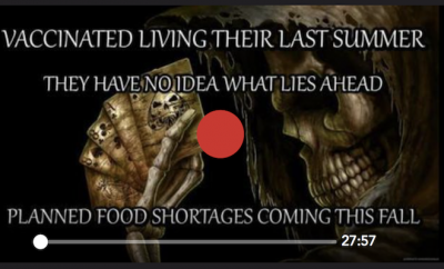 LISTEN!! THE VAXXED WILL DIE & FOOD SHORTAGES COMING FOR ALL